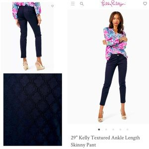 Lilly Pulitzer 6 Kelly Textured Ankle Skinny Pant